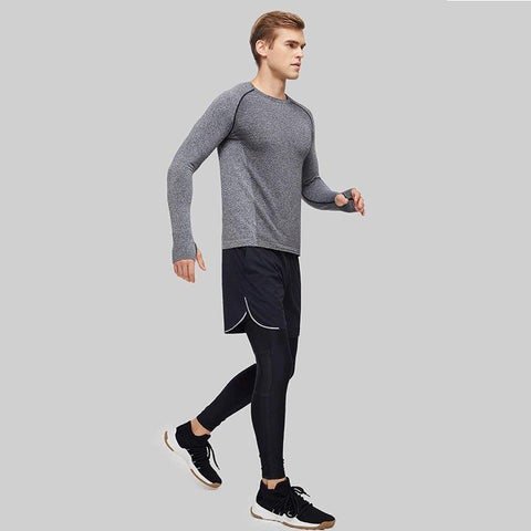 Men's Seamless Sports Long Sleeve T-Shirt Sports & Travel LIFEASE