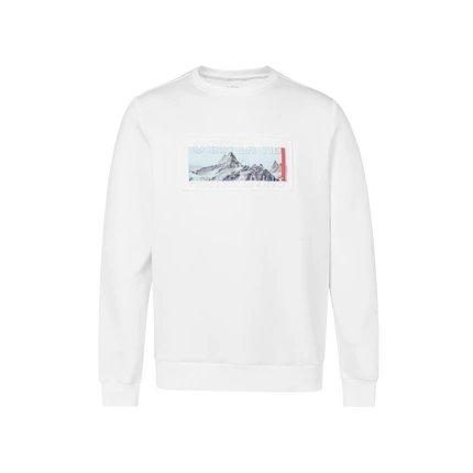 Men's Sweatshirt with Printed Iceberg Apparel shoe bag LIFEASE White M