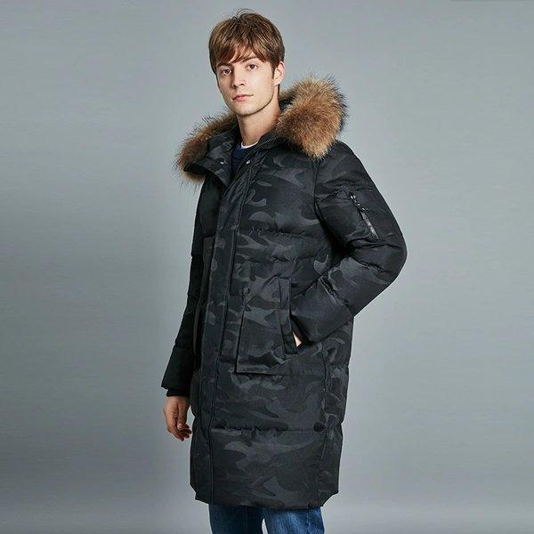 Men's Thermal Reflective Warmth Loose Fit Down Jacket Apparel shoe bag LIFEASE