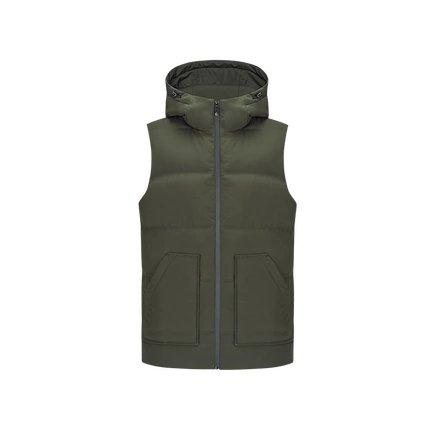 Men's Thick Down Vest Apparel shoe bag LIFEASE Army Green S