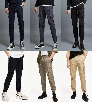 Men's Tooling Trousers with Multi-Pocket Apparel shoe bag LIFEASE