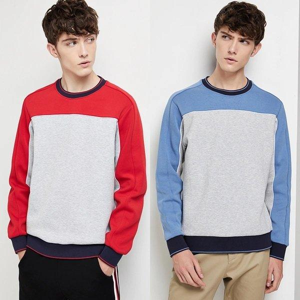 Men's Vintage Colorblock Sweatshirt Apparel shoe bag LIFEASE