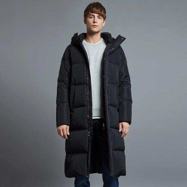 Men's Winter Warm Thick Long Down Jacket Holiday special LIFEASE