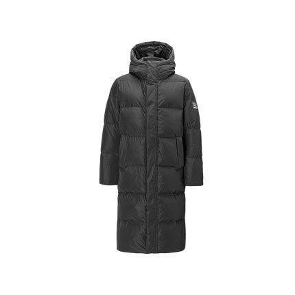 Men's Winter Warm Thick Long Down Jacket Holiday special LIFEASE Black S