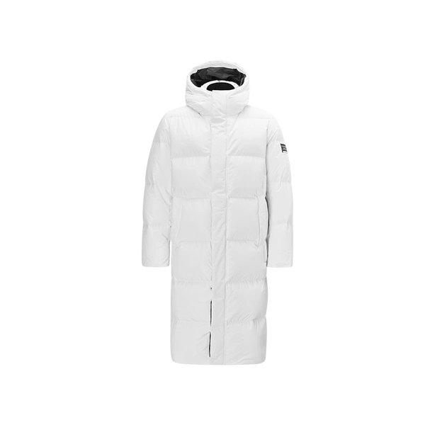 Men's Winter Warm Thick Long Down Jacket Holiday special LIFEASE White S