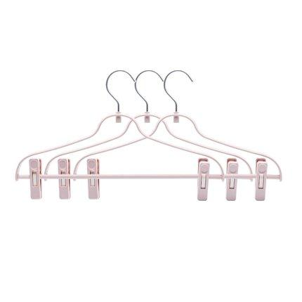 Multi-Purpose Aluminum Hook Pants Rack Home & kitchen LIFEASE Pink (3 Packs)