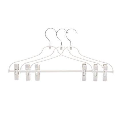 Multi-Purpose Aluminum Hook Pants Rack Home & kitchen LIFEASE White (3 Packs)