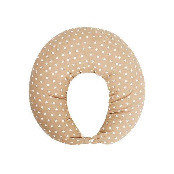 Multifunctional Pillow for Pregnant Mom Baby Care LIFEASE Khaki Polka Dot