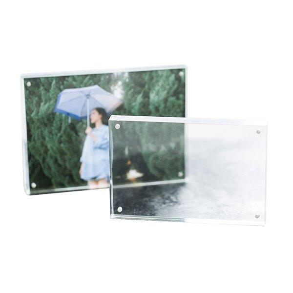 "Multifunctional Transparent Acrylic Photo Frame Home & kitchen LIFEASE Small (5""x3.5"")"