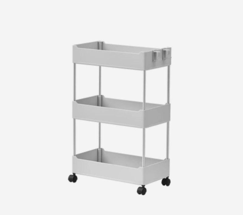 Multipurpose Storage Rack Shelving Unit Bookshelf Cabinet with 3 and 4 Bins Home & kitchen LIFEASE 3 Bins Gray