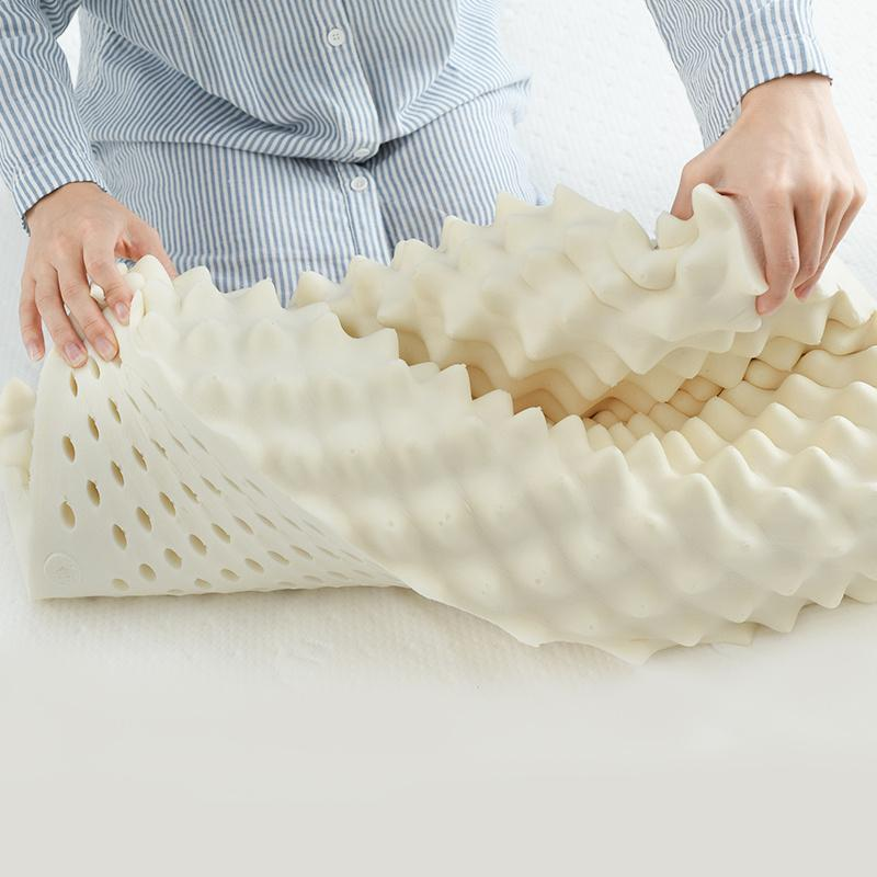 Natural Latex Thai Massage Pillow designed for Neck Pain and Sleeping Support [Made In Thailand] Home & kitchen LIFEASE