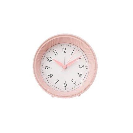 Nordic Style Silent Bedside Table Alarm Clock Home & kitchen LIFEASE Pink