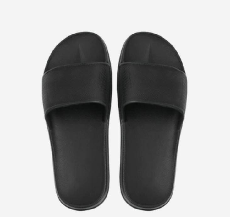 Open Toe House Slippers with Flexible EVA Soles Home & kitchen LIFEASE Black Women 5.5-6.5