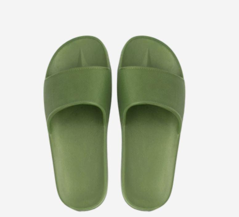 Open Toe House Slippers with Flexible EVA Soles Home & kitchen LIFEASE Dark Green Men 11-12