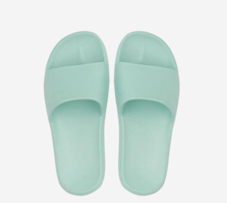 Open Toe House Slippers with Flexible EVA Soles Home & kitchen LIFEASE Mint Green Women 5.5-6.5