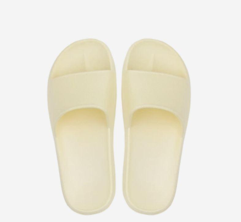 Open Toe House Slippers with Flexible EVA Soles Home & kitchen LIFEASE Yellow Women 5.5-6.5