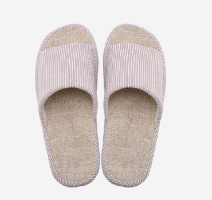 Organic Cotton and Linen House Slippers - Multiple Colors Home & kitchen LIFEASE Pink S