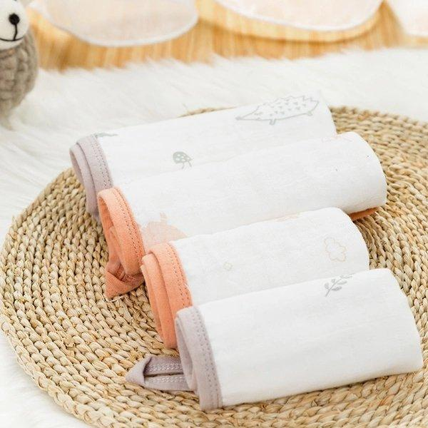 Organic Cotton Handkerchief 6 Layers Gauze with Hedgehog Design - 3 Pack Baby Care LIFEASE