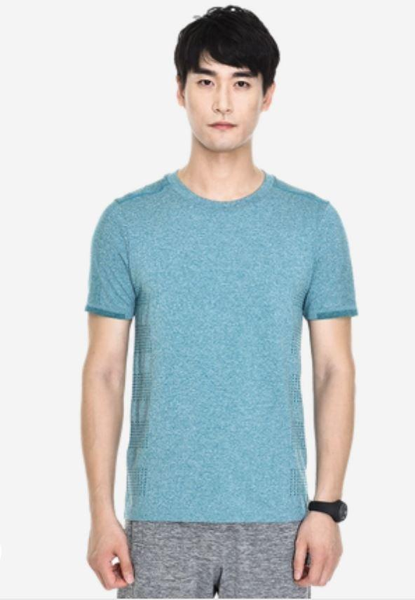 Performance Casual Quick-Dry T-Shirt for Men Sports & Travel LIFEASE Blue L