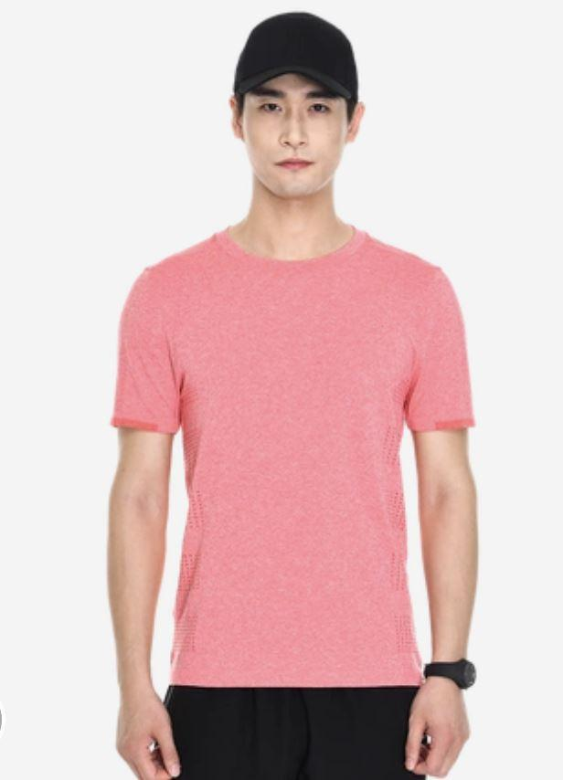 Performance Casual Quick-Dry T-Shirt for Men Sports & Travel LIFEASE Pink XL