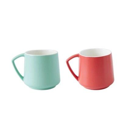 Plain Non-Stick Ceramic Mug - Multiple Colors Home & kitchen LIFEASE Green+Red