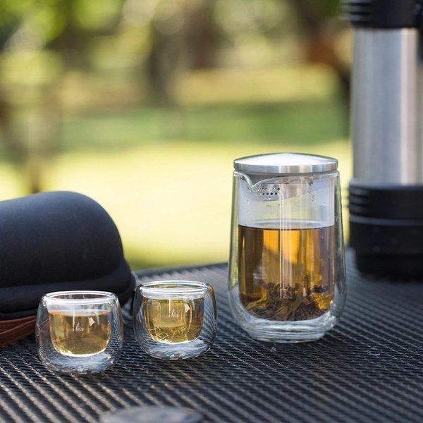 Portable Travel Tea Set (3 Pieces Set) Home & kitchen LIFEASE
