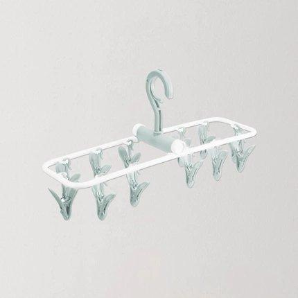 Portable Travel Use Hangers with Multi-Clothespins