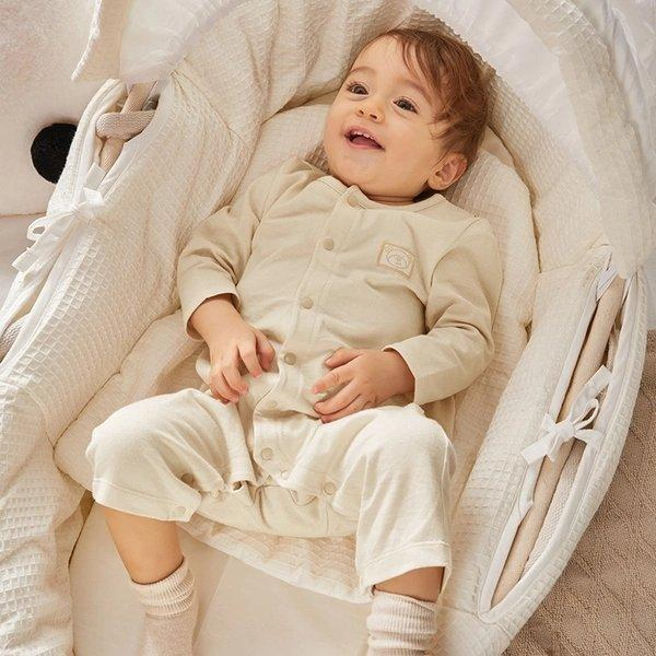 Pure Cotton Button Bodysuit for Newborn Baby Care LIFEASE