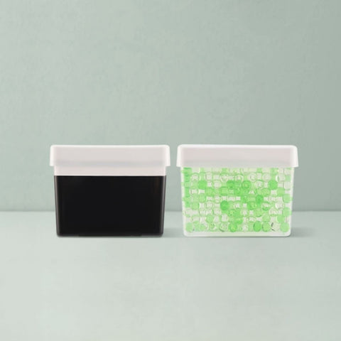 Refrigerator Deodorizer (2-Boxes) Home & kitchen LIFEASE 2 boxes (1 box of bamboo charcoal gel + 1 box of green tea beads)