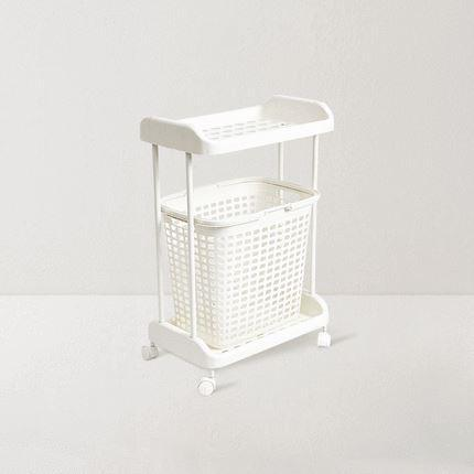 Rolling Cart with Removable Storage Basket with Handles Home & kitchen LIFEASE