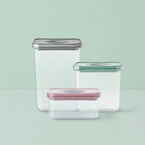 Rotate Button Airtight Food Storage Containers Home & kitchen LIFEASE