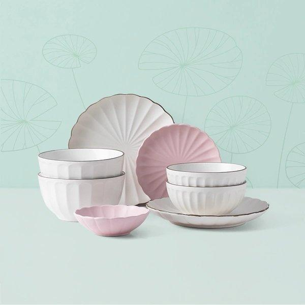 Ruffled Style Matte Glazed Ceramic Tableware Home & kitchen LIFEASE