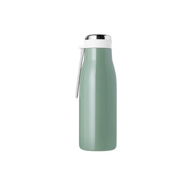 Screw Cap Stainless Steel Vacuum Bottle Home & kitchen LIFEASE Green 360ML