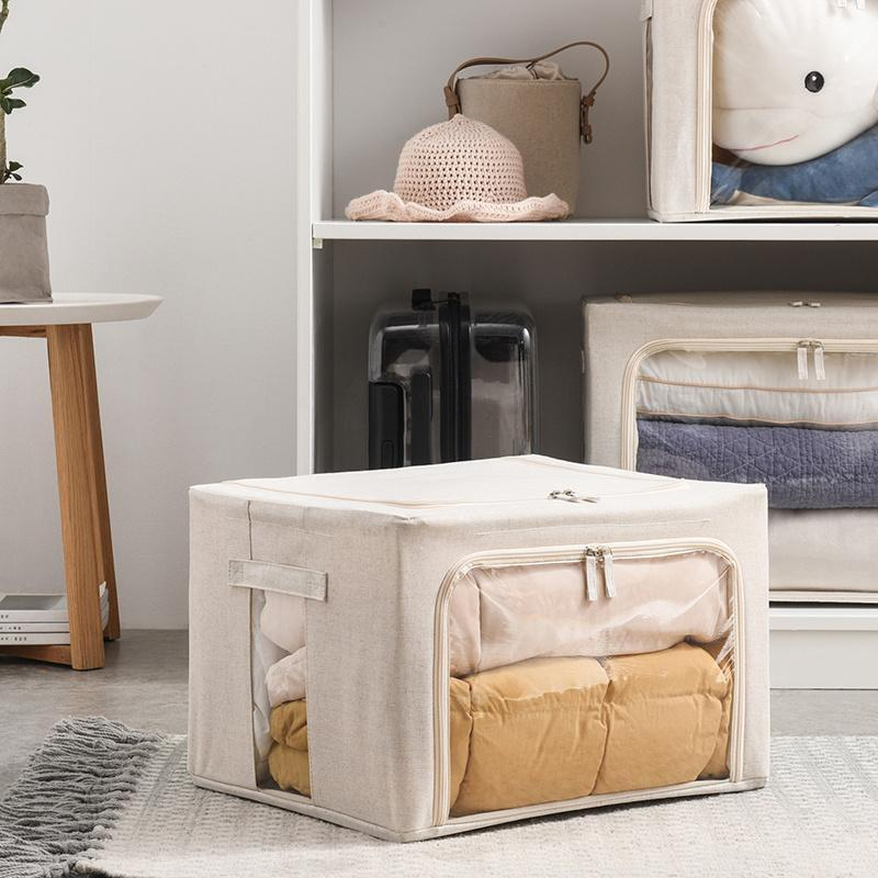 See-Through Fabric Storage Box Home & kitchen LIFEASE