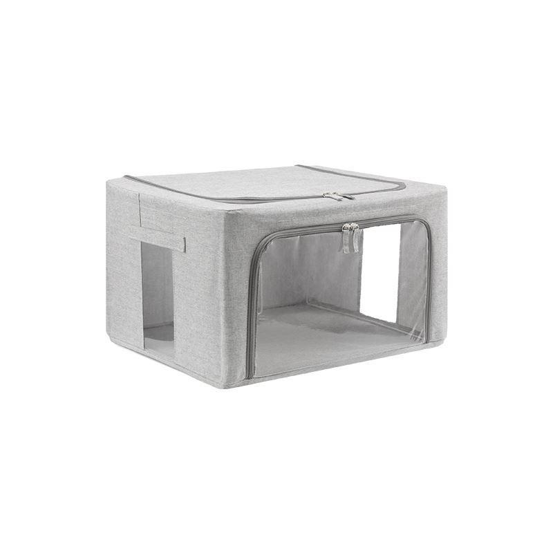 See-Through Fabric Storage Box Home & kitchen LIFEASE Grey 88L