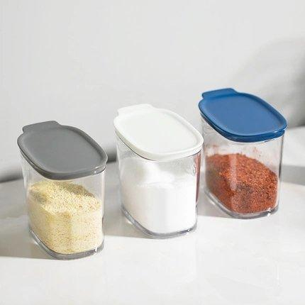 Simple and Elegant Tritan Seasoning Box with spoon Home & kitchen LIFEASE