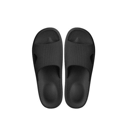 Soft Sole Open Toe House Slippers for Men and Women Home & kitchen LIFEASE Black Women S