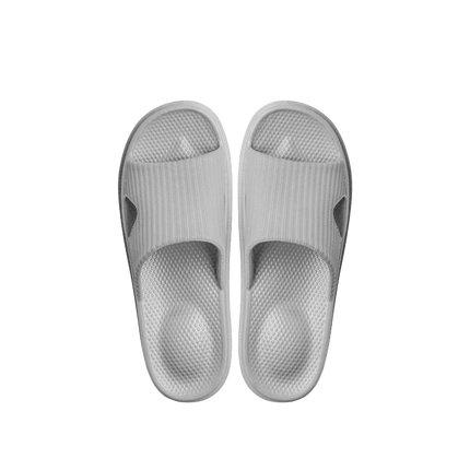 Soft Sole Open Toe House Slippers for Men and Women Home & kitchen LIFEASE Gray Women S