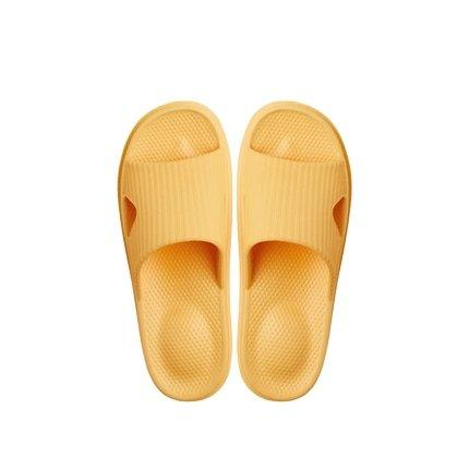 Soft Sole Open Toe House Slippers for Men and Women Home & kitchen LIFEASE Yellow Women S