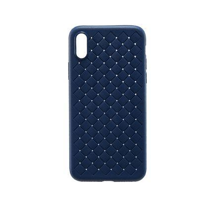 Soft Woven Texture Mobile Phone Case Consumer Electronics LIFEASE iPhone X Navy