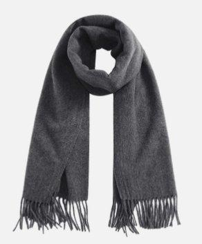 Solid Color 100% Wool Scarf - Unisex Apparel shoe bag LIFEASE Dark Grey