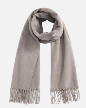 Solid Color 100% Wool Scarf - Unisex Apparel shoe bag LIFEASE Grey