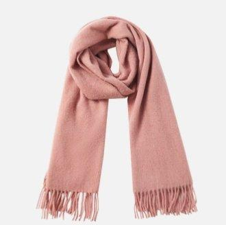 Solid Color 100% Wool Scarf - Unisex Apparel shoe bag LIFEASE Pink