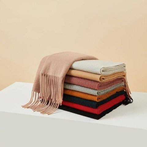Solid Color Soft 100% Cashmere Scarf Apparel shoe bag LIFEASE