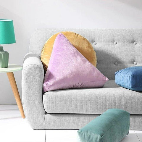 Solid Geometry Theme Stuffed Pillow Cushion Home & kitchen LIFEASE