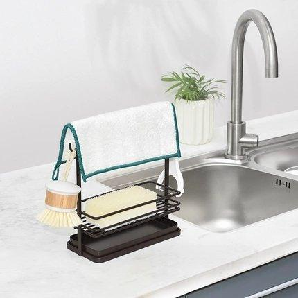 Sponge Holder with Drain Rack Home & kitchen LIFEASE