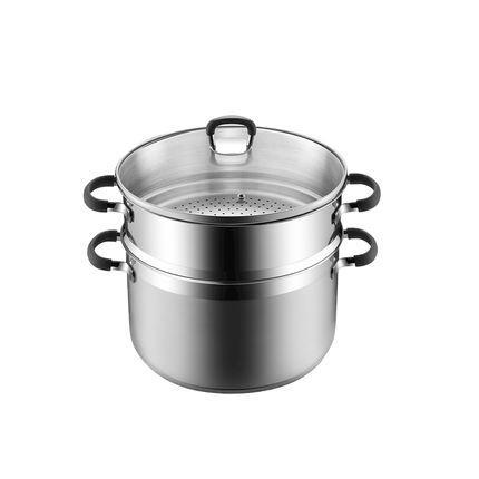 Stainless Steel Anti-Scalding Steamer 5-Qt/5.5 Qt Home & kitchen LIFEASE 9.4 inch caliber / about 6.0L capacity With cover