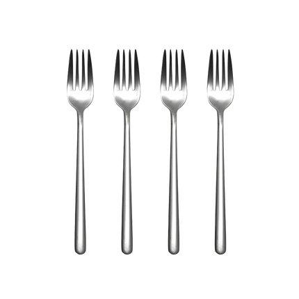 Stainless Steel Modern Elegant Flatware Cutlery Set Home & kitchen LIFEASE 4 Meal Forks Set of 4