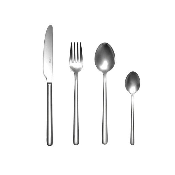 Stainless Steel Modern Elegant Flatware Cutlery Set Home & kitchen LIFEASE Dessert Spoon+Meal Spoon+Meal Fork+Meal Knif One of each