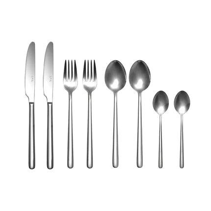 Stainless Steel Modern Elegant Flatware Cutlery Set Home & kitchen LIFEASE Dessert Spoon+Meal Spoon+Meal Fork+Meal Knife Set of 2